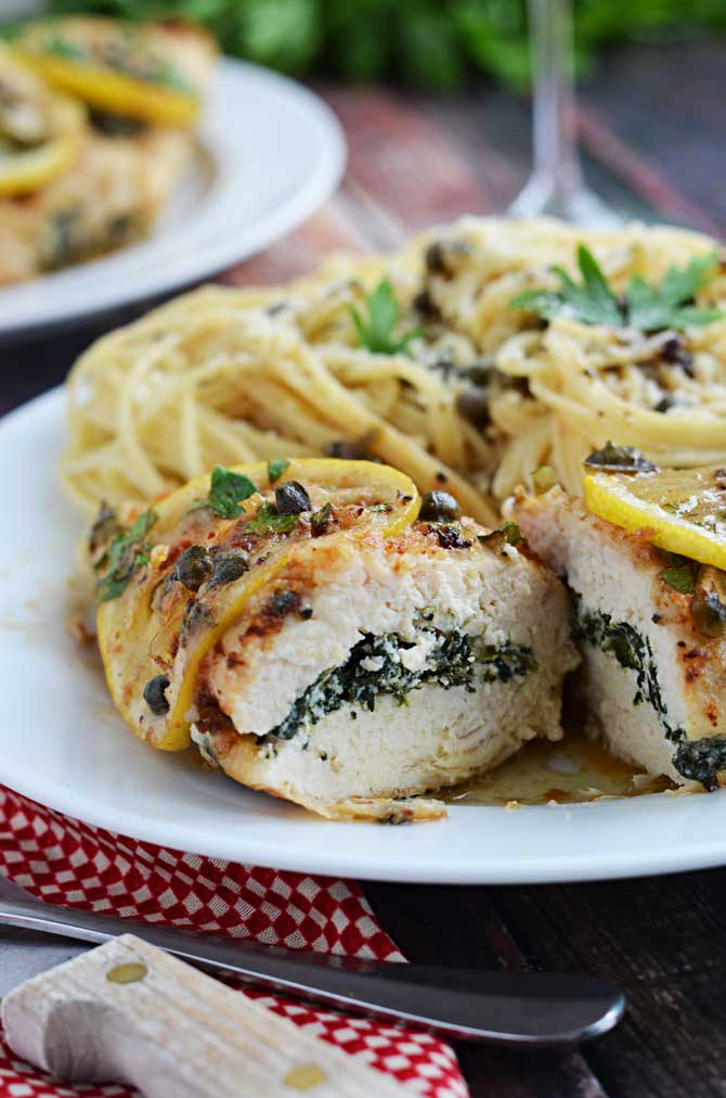 Spinach And Ricotta Stuffed Chicken Piccata Host The Toast