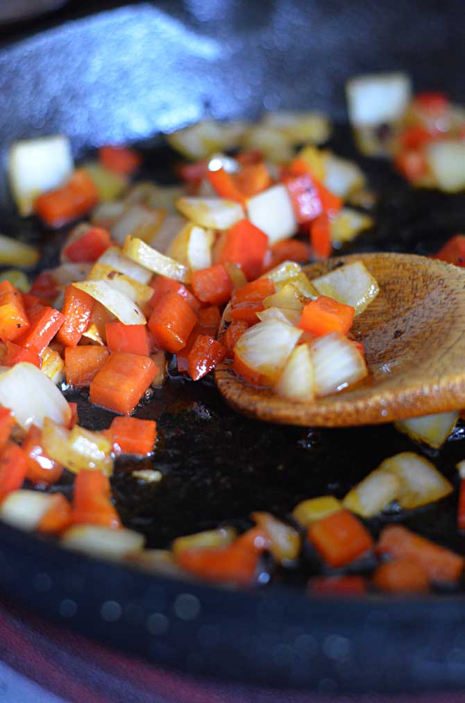 Chorizo Green Chile Breakfast Skillet.  Start your day with a little spice with this Mexican dish.   hostthetoast.com