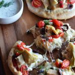 "Loaded Greek Chicken ""Pitzas"""
