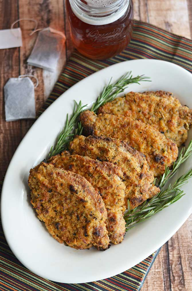 Crispy Baked Sweet Tea Pork Chops.  These Southern-style sweet tea brined pork chops are baked in the oven instead of fried but still wind up crispy, juicy, and full of flavor! | hostthetoast.com