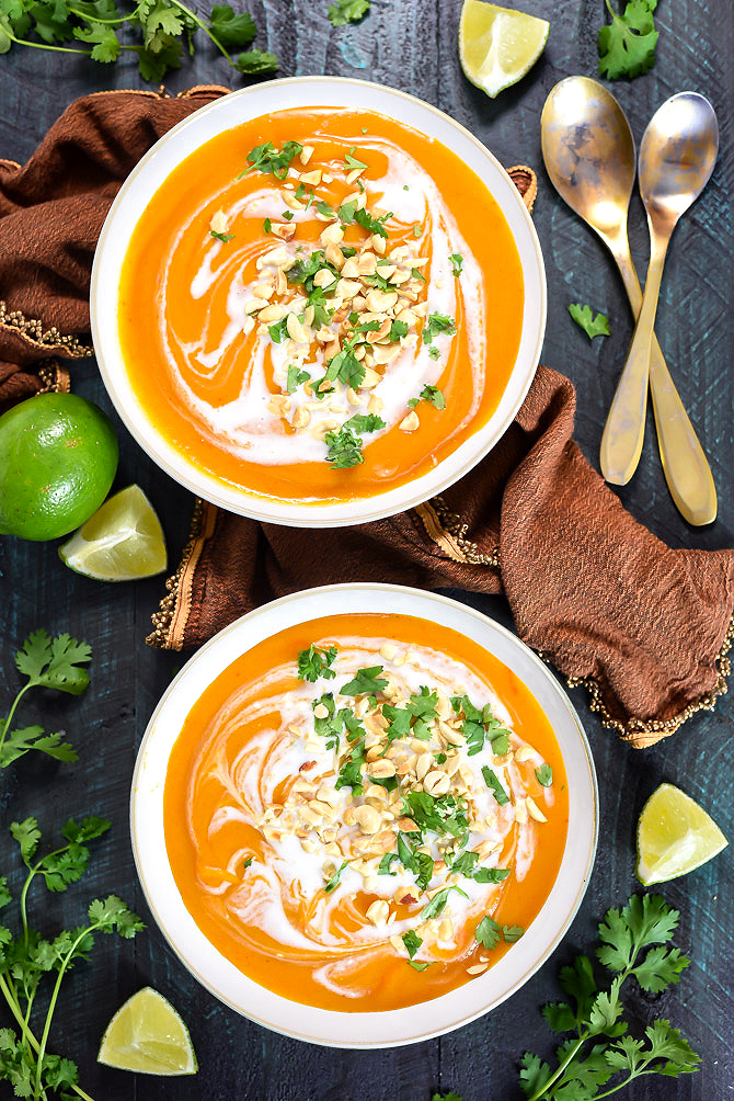 Thai Coconut Curry Butternut Squash Soup Host The Toast