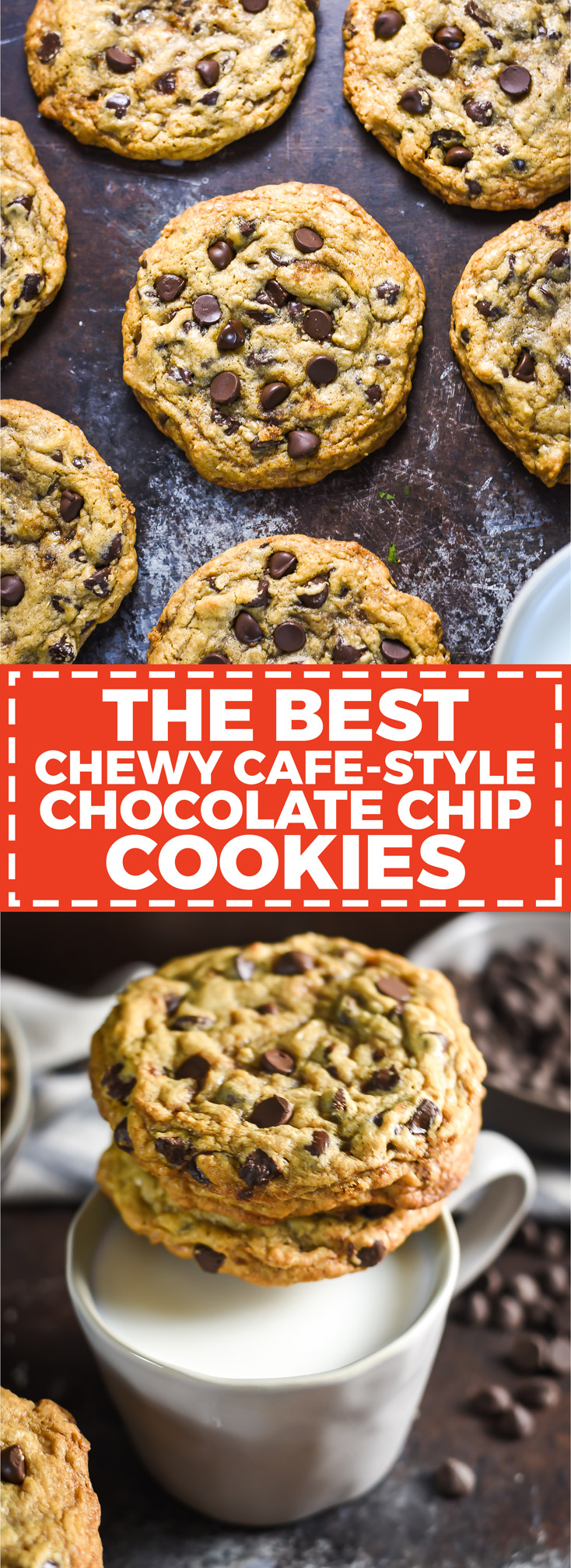 5cbb620a851 The Best Chewy Café-Style Chocolate Chip Cookies. These are my MOST POPULAR  recipe