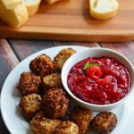 Nut-Crusted Fried Brie Bites