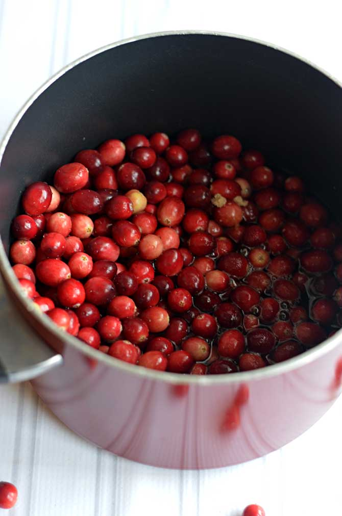 Raspberry Cranberry Sauce.  Easy to make and so tasty for Thanksgiving, Christmas, or just because.  | hostthetoast.com