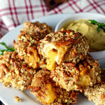 Pretzel-Crusted Chicken Nuggets Stuffed with Beer Cheese
