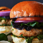 Mexican Turkey Burgers with Cilantro-Lime Pesto