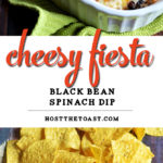 Cheesy Fiesta Black Bean Spinach Dip
