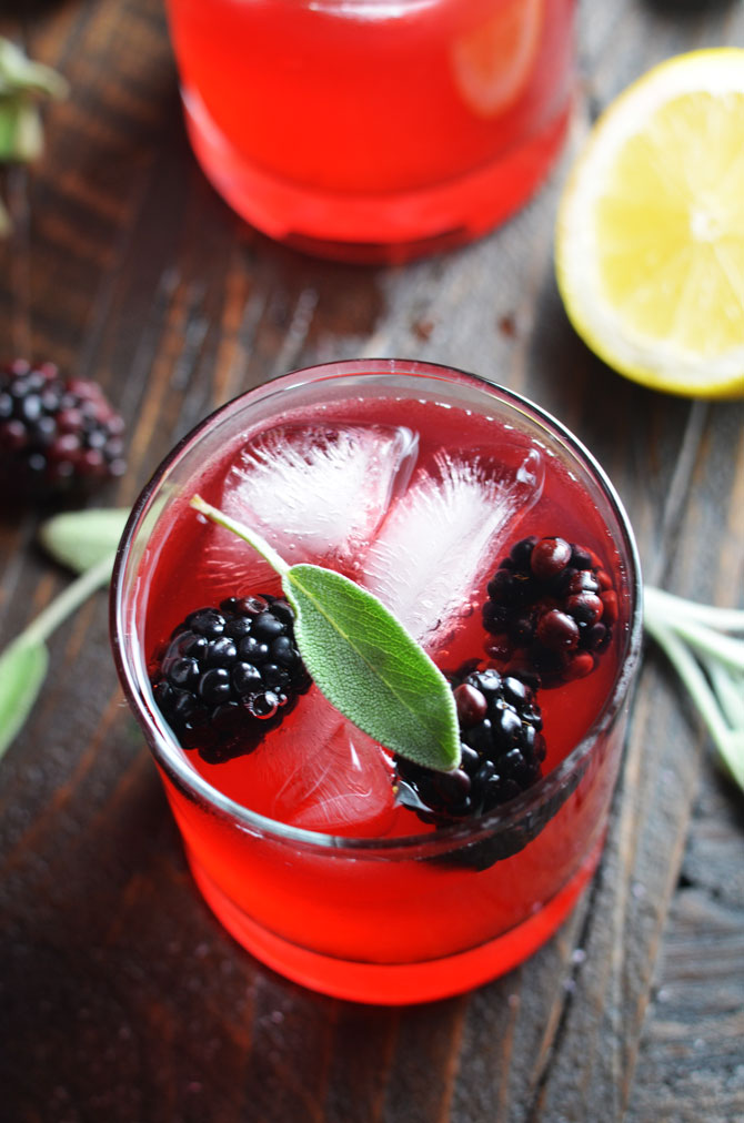 Boozy Blackberry Sage Lemonade! This delicious cocktail is sweet, tart, and just a little earthy for the perfect end-of-summer drink. | hostthetoast.com
