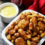 Baked Chicken Nuggets with Honey Mustard Dip