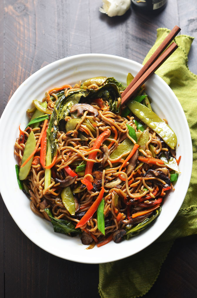 Loaded Vegetable Lo Mein Host The Toast