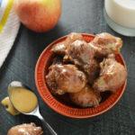 Easy Applesauce Drop Doughnuts with Caramel Glaze