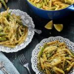 Lemony Brown Butter Asparagus Penne