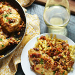 Smothered Bacon Asiago Wine Chicken
