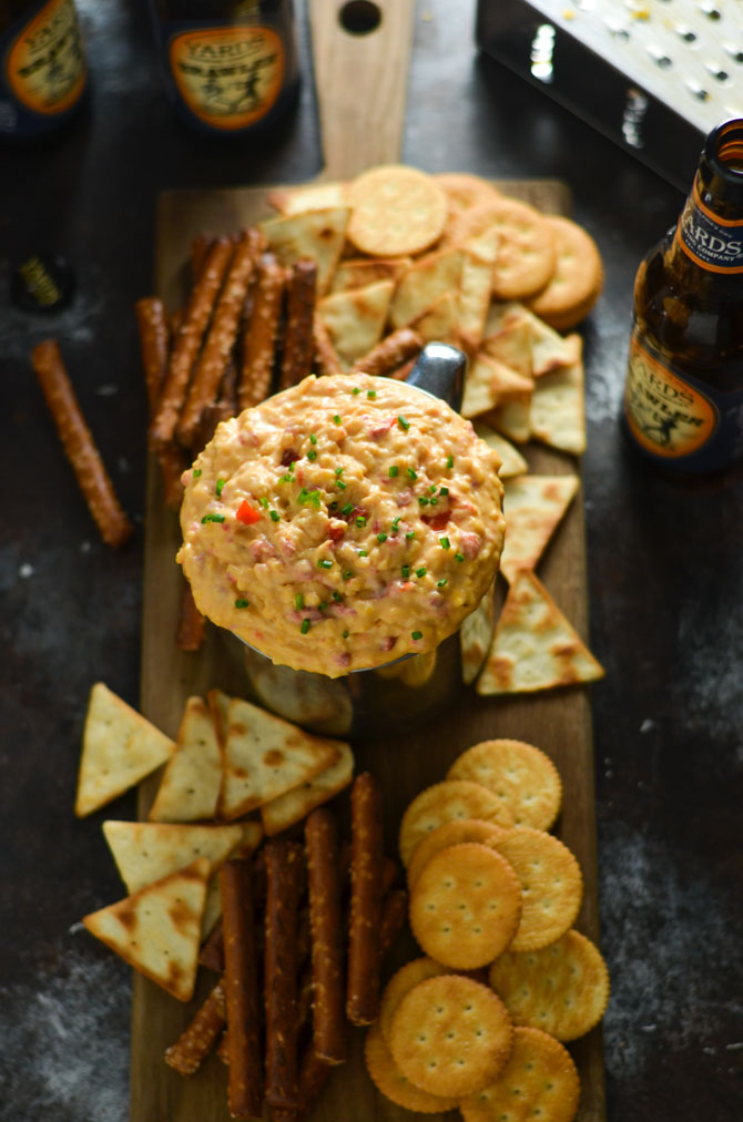 15 Minute Pimento Beer Cheese. This tangy, smoky, ultra-cheesy dip is exactly what you need for your next party. It's so simple to whip together, but huge on flavor, and tastes great at any temperature. | hostthetoast.com