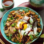 Korean Chicken and Kimchi-Fried Rice Bowls