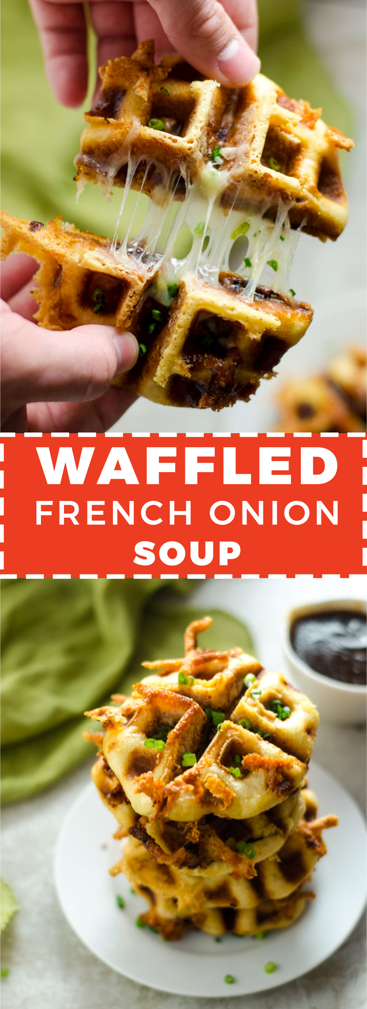 Waffled French Onion Soup. Savory puff pastry pockets, stuffed with gruyere cheese and caramelized onions, topped with an oniony beef gravy. | hostthetoast.com
