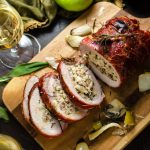 Prosciutto-Wrapped Pork Loin with Apple & Rice Stuffing