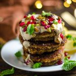 Roasted Eggplant and Feta Fritters with Tahini Sauce