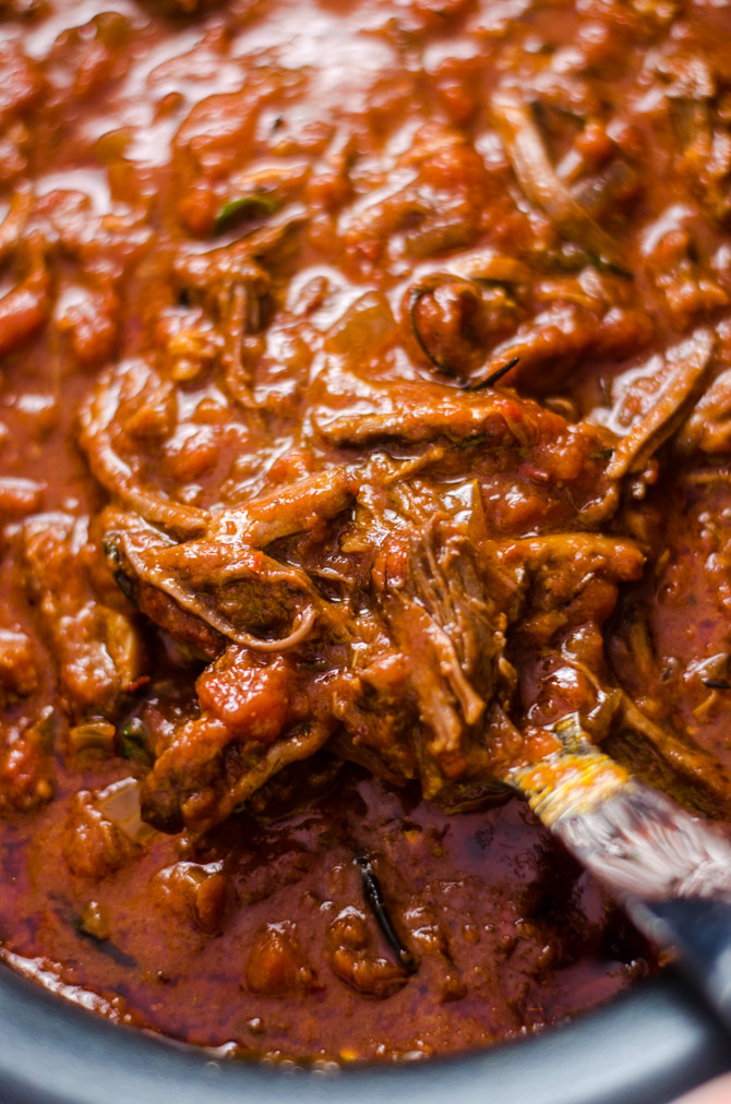Slow Cooker Short Rib Ragu with Horseradish Gremolata. You'd be hard-pressed to find a more delicious ragu than this recipe. Hearty, bold, and ultra-comforting, it will become a slow cooker staple for the chilly season!   hostthetoast.com
