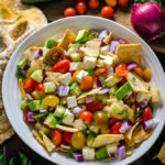 Greek Avocado Salad with Garlic-Dill Vinaigrette