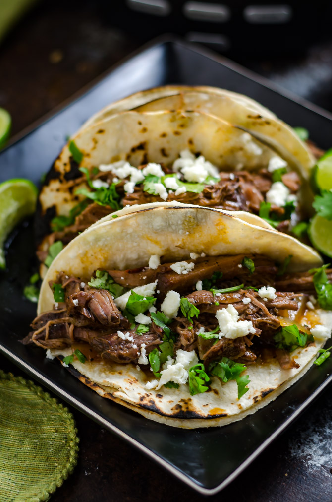 Slow Cooker Ancho Coffee Shredded Beef. This easy-to-make, tender slow cooked beef is perfect for piling into tacos, onto sandwiches, or serving over mashed potatoes. | hostthetoast.com