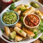 Green Chile Chicken Quesadilla Sticks