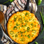 Skillet Cheddar-Cornbread BBQ Chicken Pot Pie