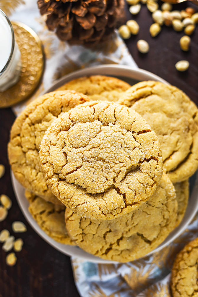 The Best Chewy Cafe Style Peanut Butter Cookies Host The Toast