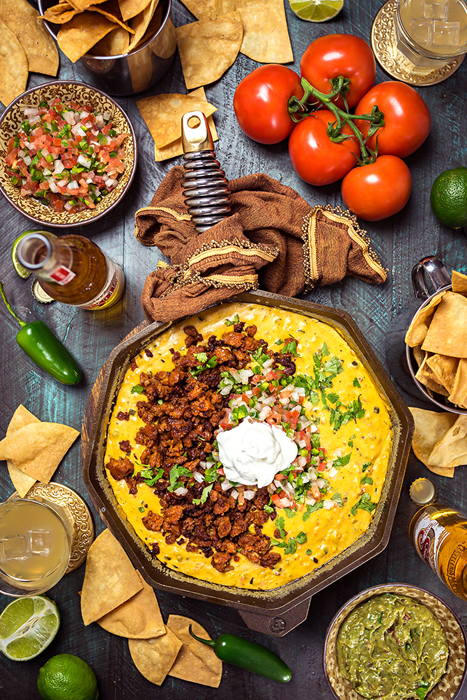Chorizo Queso Dip. This is the ultimate, no fake cheese, no fuss cheese dip. | hostthetoast.com