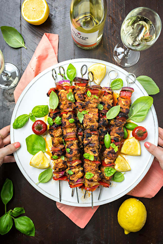 Fiery Italian Chicken Skewers. A homemade spicy pepper with roasted red and hot cherry peppers makes this recipe one you'll want to grill up all summer. | hostthetoast.com