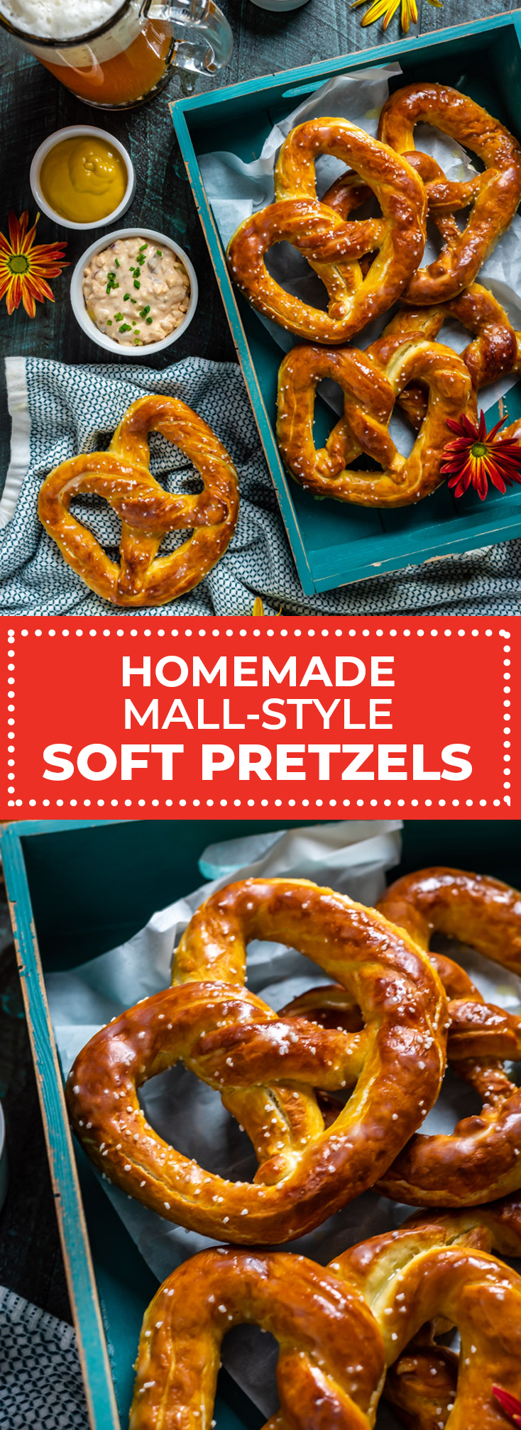 Homemade Mall-Style Soft Pretzels. If you love those golden, buttery mall pretzels, you have to check out this recipe and step-by-step video! | hostthetoast.com
