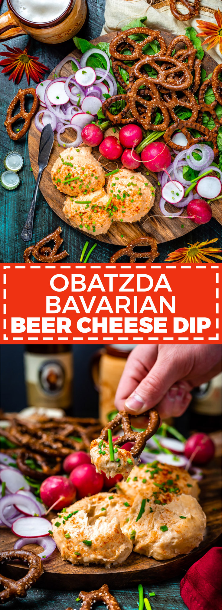 Obatzda Bavarian Beer Cheese Dip. This rich and piquant beer garden classic is made with just a few simple ingredients and is perfect to serve with pretzels or rye bread. | hostthetoast.com