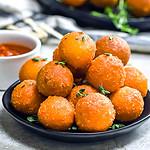 5 Ingredient Crispy Smoked Gouda Cheese Balls