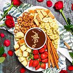 The Easiest Boozy Chocolate Hazelnut Fondue