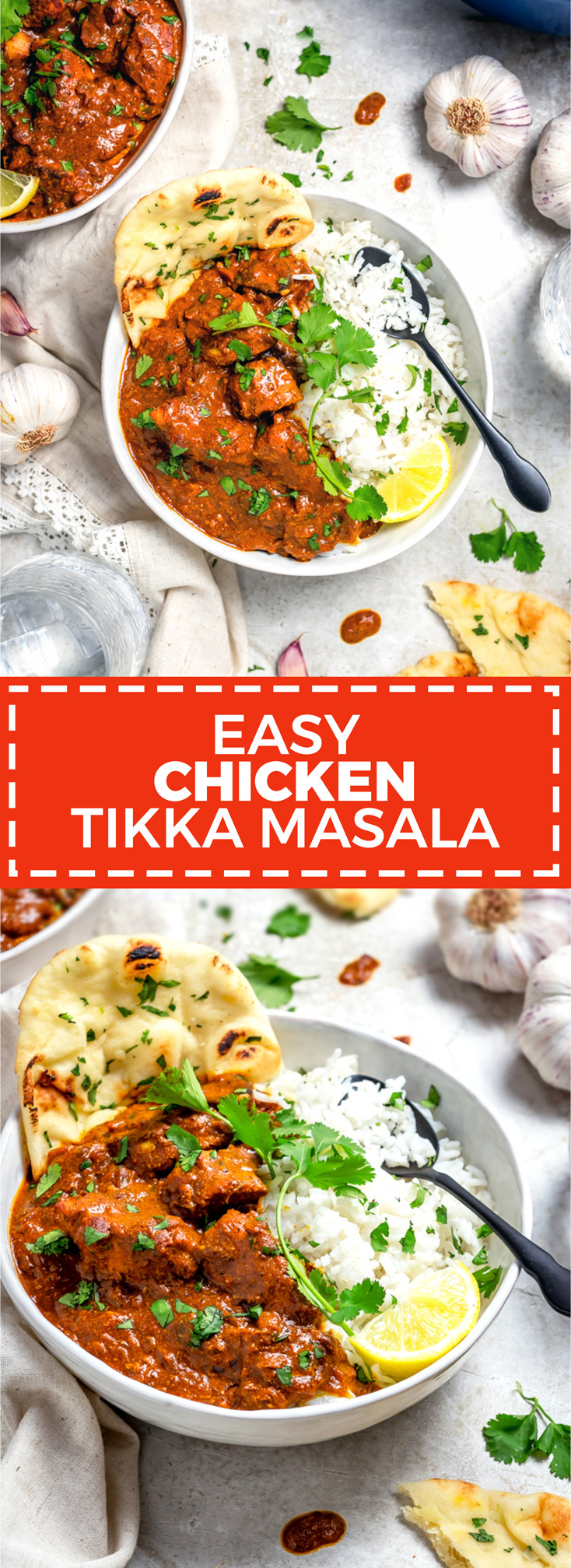 Easy Chicken Tikka Masala. Briefly marinating in a spiced yogurt mixture keeps the chicken in this homemade Indian-inspired recipe tender and juicy, even after charring the exterior for maximum flavor. The star of the show, however, might not be the chicken at all. It's all about that creamy, comforting, flavor-packed curry sauce! | hostthetoast.com