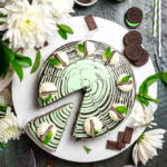 No-Bake Mint Chocolate Zebra Cheesecake