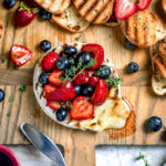 Grilled Camembert with Balsamic Macerated Berries