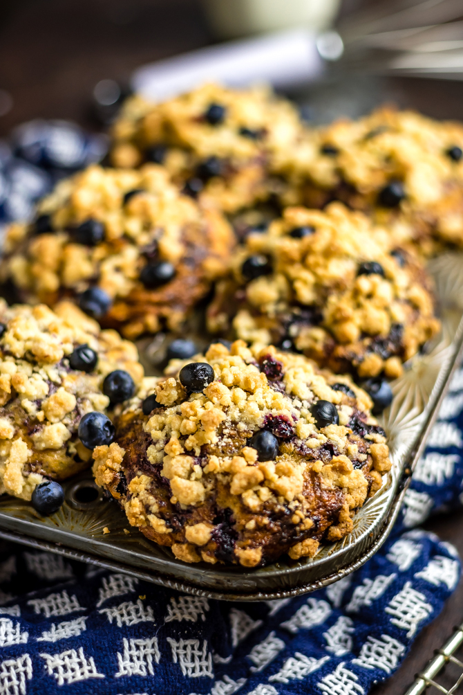Big, fluffy, moist, bursting with blueberry flavor, and topped with crumbly streusel, these homemade muffins are better than you could buy. I call themThe Best Bakery-Style Blueberry Muffins, and they pull out all of the tricks for perfect muffins, from how to get a perfectly domed top to how to prevent the blueberries from sinking to the bottom of the batter.| hostthetoast.com