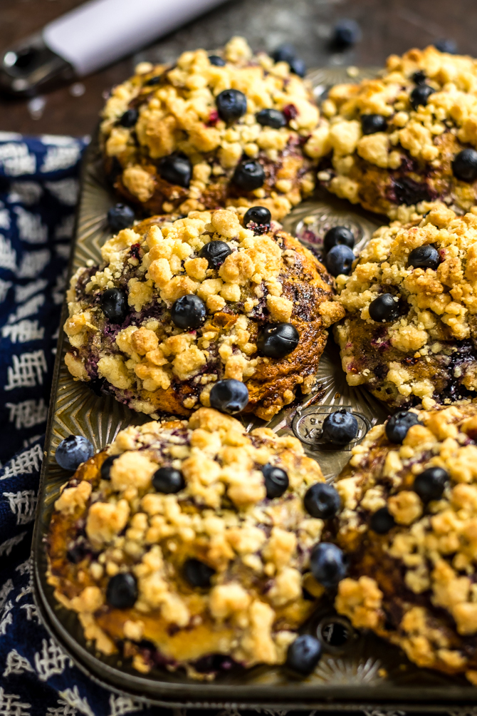 Big, fluffy, moist, bursting with blueberry flavor, and topped with crumbly streusel, these homemade muffins are better than you could buy. I call themThe Best Bakery-Style Blueberry Muffins, and they pull out all of the tricks for perfect muffins, from how to get a perfectly domed top to how to prevent the blueberries from sinking to the bottom of the batter. | hostthetoast.com