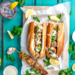Garlic & Herb Marinated Chicken Spiedies