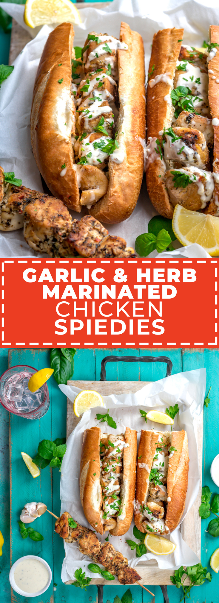 These Garlic & Herb Marinated Chicken Spiedies aren't just your run-of-the-mill chicken skewers-- they're a Central NY specialty that deserves some worldwide recognition. Chunks of chicken breast are marinated for at least 12 hours in a tangy, herb-spiked marinade and then grilled before being served on soft Italian bread with a generous drizzle of garlic sauce. | hostthetoast.com