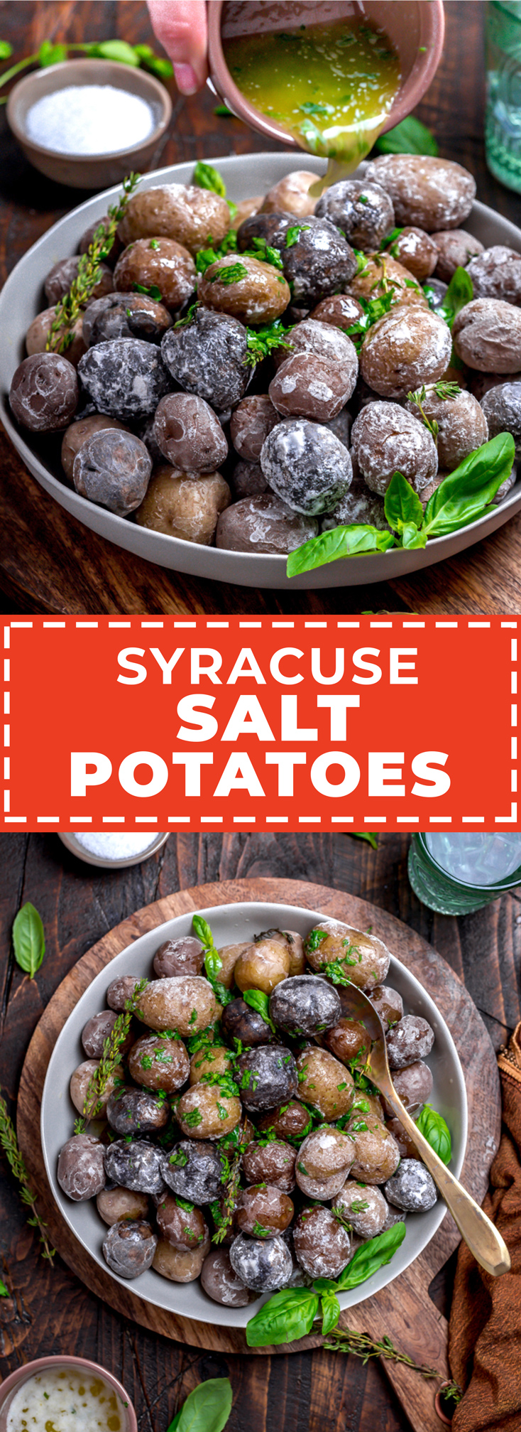 These 4-ingredient Syracuse Salt Potatoes are a classic Central NY dish. Thin salt crusts, almost impossibly tender centers, and a drizzle of melted butter make them just as irresistible as they are easy to prepare. | hostthetoast.com