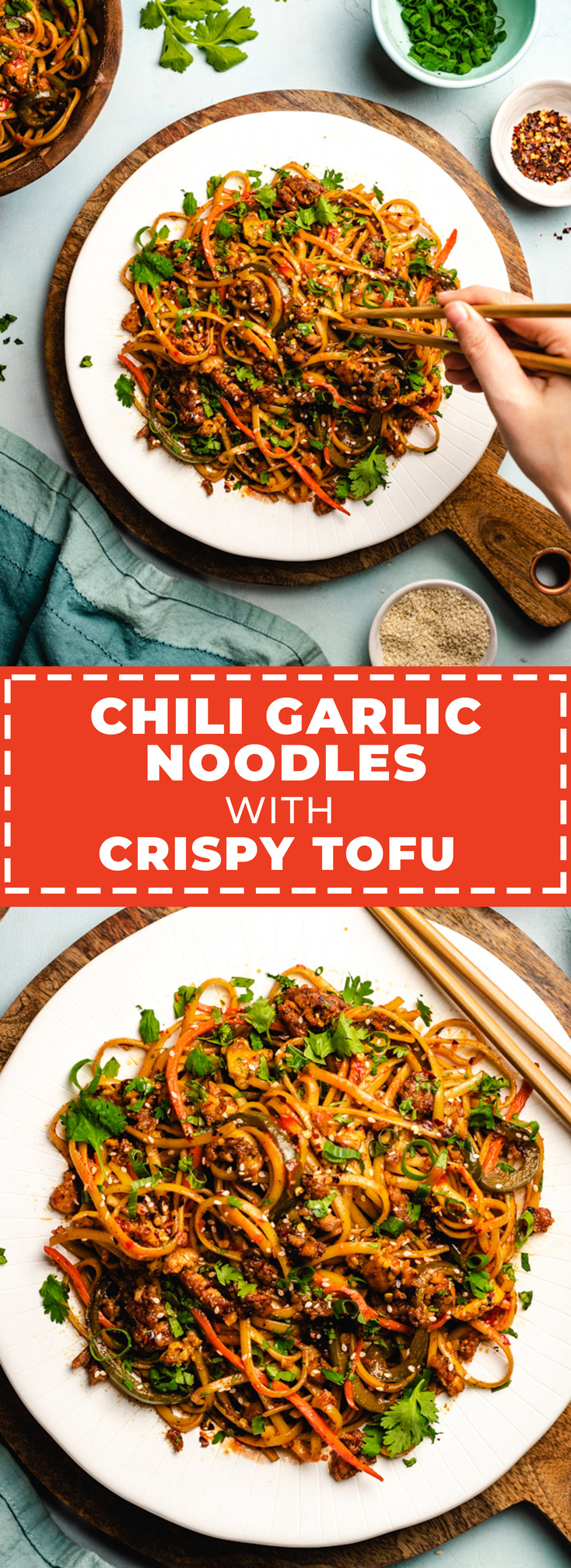 If you're craving spicy Asian food, these Chili Garlic Noodles with Crispy Tofu are saucy satisfaction in a bowl. Make it a big bowl, by the way, because you're going to want to load up. The noodles can be served hot, cold, or at room temperature and-- bonus-- they taste even better when made ahead of time so all of those intense flavors can mingle.   hostthetoast.com