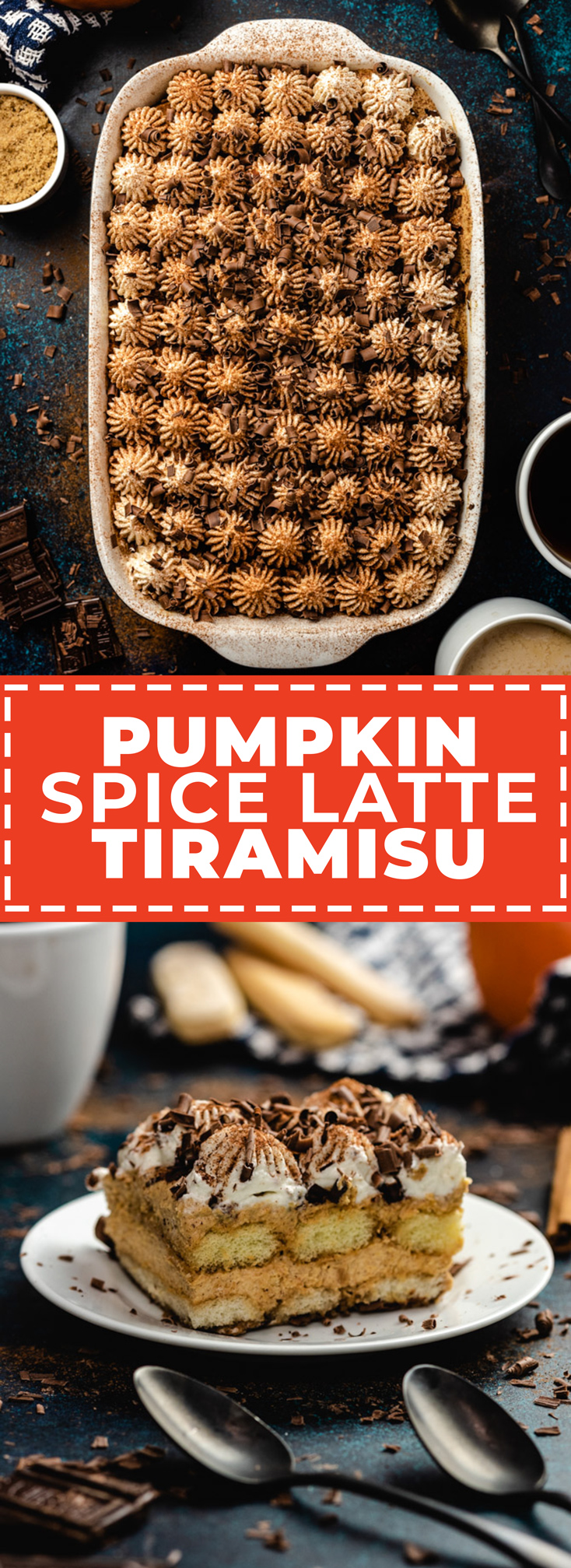 This easy, luxurious Pumpkin Spice Latte Tiramisu features all of our favorite Fall flavors. With its layers of fluffy pumpkin mousse, coffee-soaked ladyfingers, sweet whipped cream, and plenty of pumpkin spice, it's a PSL-lover's dream dessert. | hostthetoast.com
