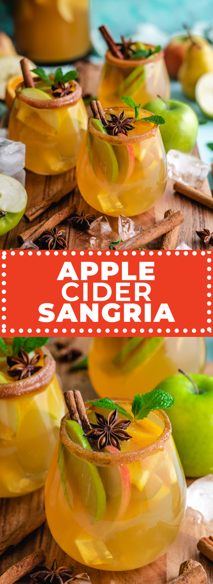 Light, refreshing, easy-to-make, and bursting with flavor, this fruit-loaded Apple Cider Sangria is the perfect big-batch Fall drink. | hostthetoast.com